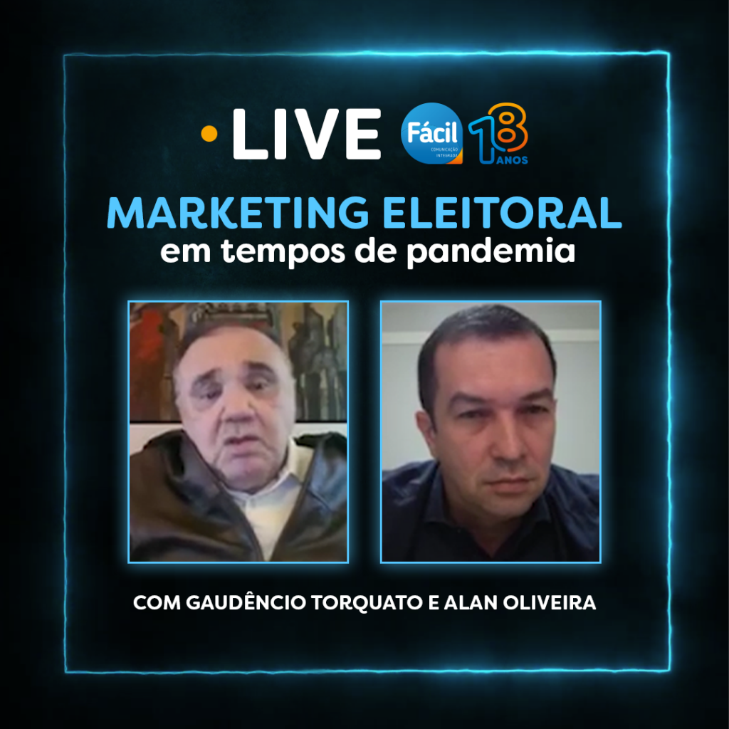 Gaudêncio Torquato debate com Alan Oliveira sobre marketing eleitoral em tempos de pandemia